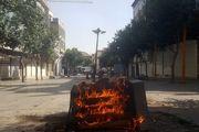 اغتشاشگران اموال مردم را به آتش کشیدند + تصاویر