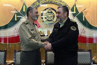 تبریک فرمانده ناجا به فرمانده کل ارتش