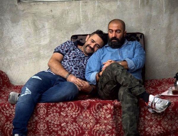 مجید صالحی و شوهر خواهرش + عکس