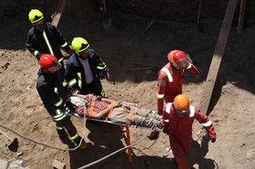 مرگ دو کارگر در پی ریزش آوار