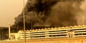آتشسوزی مهیب درایستگاه قطار شهر جده عربستان