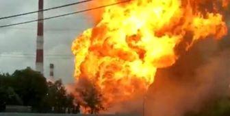 آتشسوزی مهیب در نیروگاه برق در مسکو