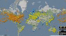 نقشه آنلاین پروازهای هوایی جهان تهیه شد