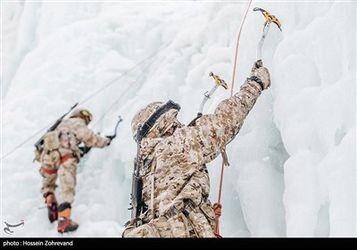 تمرین یخ نوردی یگان ویژه صابرین