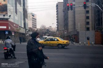 تهران در شرایط ناسالم آب و هوایی