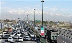 ترافیک نیمه سنگین در کرج چالوس و هراز
