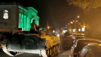 استقرار تانک های ارتش و نیروهای امنیتی در منطقه سبز بغداد