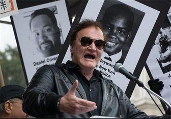 حضور تارانتینو در جمع معترضین نیویورک/عکس