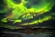 شفق قطبی در آسمان فنلاند/ عکس