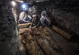 کشف گورستان باستانی جدید در منیای مصر