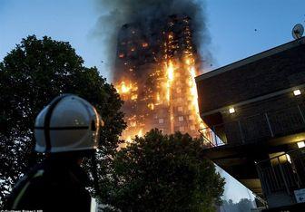 وضعیت مبهم بسیاری از ساکنان برج گرنفل لندن/ آتش سوزی ادامه دارد؟