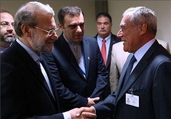 دیدار لاریجانی با رئیس مجلس ایتالیا