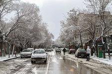 بارش برف موجب تعطیلی مدارس شد