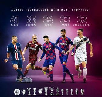 فوتبالیستهایی که بیشترین جام قهرمانی را کسب کردهاند