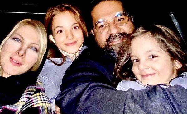 عکس خانوادگی رضا صادقی