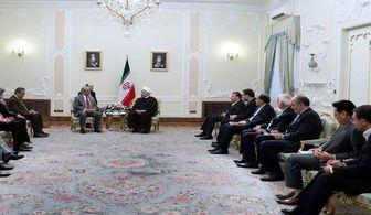 دیدار رئیس مجلس سنای پاکستان با روحانی