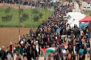 راهپیمایی فعالان فلسطینی