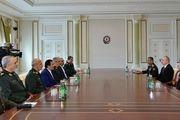 دیدار سرلشکر باقری با علیاف در باکو