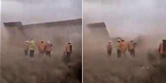 """توفان هانا سبب تخریب بخشی از دیوار """"ترامپ"""" شد+عکس"""