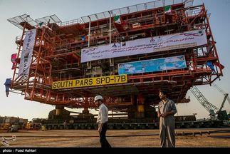 ۲ سکوی تولید و فرآوری گاز فازهای ۲۲ و ۲۴ پارس جنوبی نصب میشود