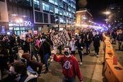 زد و خورد پلیس با حامیان ترامپ/گزارش تصویری