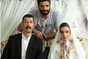 عکس بهرام افشاری با لباس دامادی سر سفره عقد!