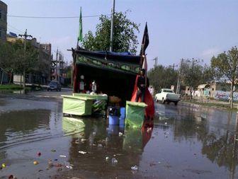 جاری شدن آب جوی در خیابان های پارس آباد + تصاویر