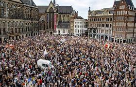 تظاهرات ضدنژادپرستی هزاران هلندی/فیلم