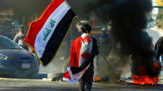 جوکر در اغتشاشات عراق /عکس