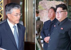 دیدار سران کره شمالی و جنوبی در منطقه غیرنظامی میان دو کشور