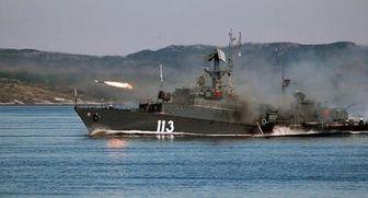 رزمایش دریایی روسیه در آبهای خزر