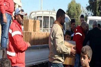 کمکهای بشردوستانه در شهر «حسکه» توسط هلال احمر سوریه توزیع شد