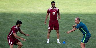 تمرین 3 پرسپولیسی در ورزشگاه شهید کاظمی