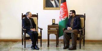 رایزنی مشاور امنیت ملی افغانستان با سفیر هند