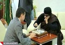 قذافی بر سر میز شطرنج چه گفت؟