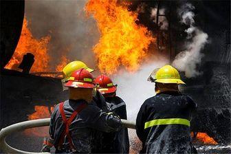 3 مصدوم  بر اثر آتش سوزی یک ساختمان در محله نظام آباد