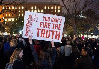 تظاهرات علیه ترامپ مقابل کاخ سفید+تصاویر