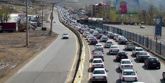 ترافیک سنگین در محورهای مواصلاتی تهران