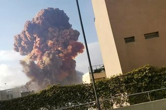 انفجار بیروت از نمای نزدیک+فیلم