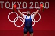 کسب مدال نقره در وزنه برداری توسط علی داودی+ فیلم