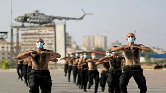 آموزش ویژه نیروهای پلیس فلسطین برای مقابله با کرونا+ تصاویر