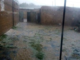 بارش عجیب تگرگ در نهاوند
