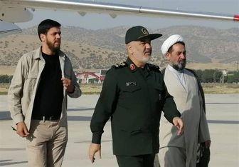 بازدید فرمانده سپاه از ارتفاعات مرزی کرمانشاه